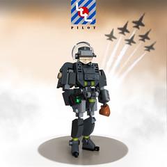 LLL - A pilot's life for me! - DA3 (Brixnspace) Tags: lego moc pose pilot figure da3 lll lunchbag vr