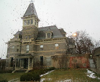 Mansion in the rain