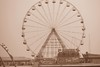Blackpool (MadelynBMedia) Tags: fair blackpool black white bw ferris wheel summer day time