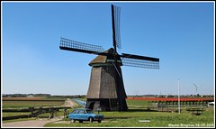 Molen N-M (1657) (XBXG) Tags: molen nm noorderm parallelweg sint maartensvlotbrug schagen noordholland nederland holland netherlands paysbas poldermolen grondzeiler achtkante binnenkruier zijpe stichting de zijper molens hollands noorderkwartier monument rijksmonument 41936 achtkant windmill wind mill molino windmolen building sky landschap landscape 0953ms citroën ami 8 1970 citroënami