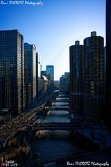 Lights of city (remi ITZ) Tags: chicago michigan river metro metra cta skyline skycrapper