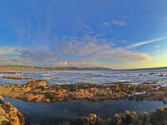 Widemouth Bay, Cornwall. (bencarter_422) Tags: surf landscape surfing evening landscapephotography england beach sunset cornwall summer clouds bluesky gopro wideangle