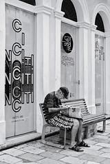 Newspaper (fcribari) Tags: 2018 35mm brasil fujifilm pernambuco recife xpro2 bench blackandwhite blancoynegro fotografiaderua monochrome newspaper pretoebranco street streetphoto streetphotography