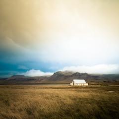 Iceland (Zeeyolq Photography) Tags: house iceland sky landscape mountains islande nature vesturland is