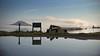 the big puddle (Paul J's) Tags: landscape tokaanu waikato wharf wharfroad puddle reflection laketaupo lake