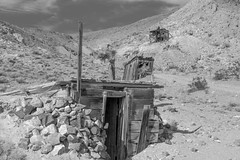 Lost Burro Mine (joeqc) Tags: dvnp deathvalleynationalpark deathvalley desert black bw blancoynegro blackandwhite greytones monochrome mono mojave ghost ghosttown