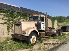 KW, Alverton, PA. 5-15-2018 (jackdk) Tags: truck tractor tractortrailer semi semitruck junk junkyard kw kenworth 318 8v71 detroit diesel dieseltruck bobtail