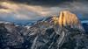 Last Light on Half Dome (Kirk Lougheed) Tags: california glacierpoint halfdome usa unitedstates yosemite yosemitenationalpark cloud landscape mountain nationalpark outdoor park sky spring sunset