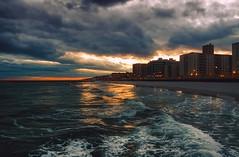 Sunset after the storm (cr_photo_ny) Tags: sunset storm clouds sky dramatic thunderstorm ocean waves longbeach longisland newyork reflection contrast boardwalk beach