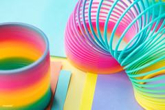 Closeup of rainbow spring toy background (Rawpixel Ltd) Tags: ake rawpixelcc0 shoot shootphotofeed top freecc0 photo propertyrelease otherkeywords tags tagcc0 abstract amusement background bright childhood closeup coil colored colorful enjoyment entertainment equipment flexibility flexible fun funky game kids leisure macro memories metal motion name object pattern plastic play rainbow recreation ring spectrum spiral spring springtoy stretch throwback toy vibrant wallpaper wire