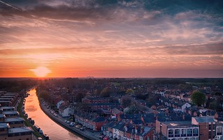 Sunset over Lincoln