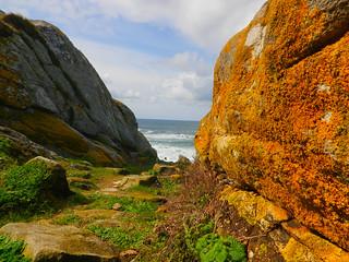 Mirada al Atlántico desde Corrubedo-Riveira (A Coruña)