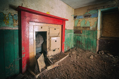 Should never be seen. (James_at_Slack) Tags: aberdeenshire abandoned ruraldecay ruralexploration oldtown lumsden fireplace coldhearth red green abandonedplaces derelict decayed scotland jamesdyasdavidson