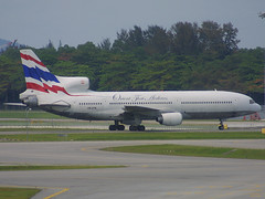 HS-UTA, Singapore Changi, March 21st 2003 (Southsea_Matt) Tags: hsuta orientthaiairlines lockheed tristar l1011 singapore changi wsss sin canon d30 spring 2003 march airport aviation aircraft transport cargo freighter