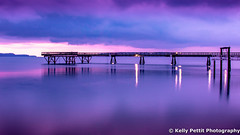 Sidney Pier very early in the morning (kellypettit) Tags: sidney bc pier purple bluelight morning sunrise cold ocean sea