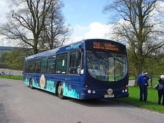 TM Travel 604 Chatsworth (Guy Arab UF) Tags: tm travel 604 fj03vvr scania l94ub wright solar bus chatsworth house derbyshire wellglade trent barton branded buses wellgladegroup