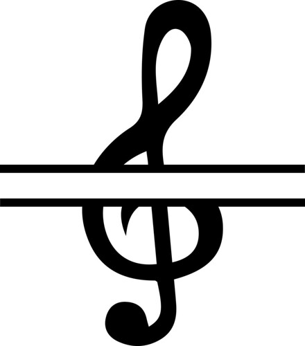 split treble clef