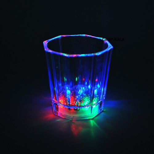 لیوان چراغ دار هفت رنگ