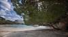 (249/18) Pinos en el mar (Pablo Arias) Tags: pabloarias photoshop photomatix capturenxd españa cielo nubes arquitectura playa arena árbol pino agua mar mediterráneo calagaldana menorca