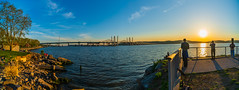 Tappan Zee Panorama (Havoc315) Tags: landscape sunset sony westchester tarrytown a7riii panorama 1224 f4 g hudson river hudsonriver sonya7riii sony1224f4g lightroompanorama