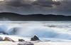 Splashy Seascape with Rocks (Merrillie) Tags: daybreak sunrise nature dawn clouds centralcoast morning northpearlbeach sea newsouthwales rocks pearlbeach nsw sky rocky ocean earlymorning landscape australia coastal waterscape outdoors seascape waves coast water seaside