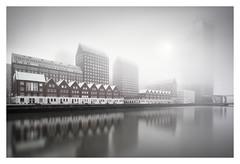 Spoorweghaven (Vesa Pihanurmi) Tags: spoorweghaven rotterdam holland netherlands architecture sea fog foggy mist buildings harbour reflection cityscape skyline