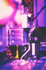 La Fiesta Tech (GothGeekBasterd) Tags: purple tech inside box personal computer auto hdmi drive macro