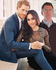 The new Duke and Duchess of Sussex pose with Viscount PhotoShop (Paul McClure DC) Tags: paulmcclure funny photoshop royalty princeharry meghanmarkle may2018 humor royalwedding