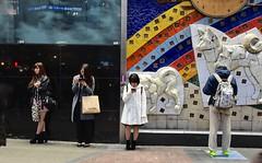 Japan- Tokyo- Shibuya (venturidonatella) Tags: japan asia tokyo shibuya persone people ritratti portraits colori colors giappone street strada streetscene streetlife phone telefono emozione concentrazione leggere lettura reading luci lights