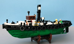 Saturn en profile port (koffiemoc) Tags: lego moc mocs ship steam tug lowlug foitsop