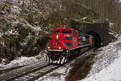 28N East Portal (jc_canon) Tags: ferromex panam panamrailway panamsouthern norfolksouthern par pas ns hoosactunnel tunnel floridamassachusetts train freight freighttrain eastportal fxe4086 emdsd70ace emd sd70ace snow csx987 28n district3 d3