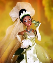 Tiana's Transformation Kiss! (AaronMalibu) Tags: black africanamerican barbie doll naveen frog princess disneystore mattel