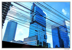 telephone lines ..? (harrypwt) Tags: harrypwt jakarta indonesia city canons95 s95 street skyscraper lines architecture framed