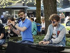 Straßenmusik (ingrid eulenfan) Tags: leipzig zentrum city strassenmusiker strasse streetlife personen streetmusician