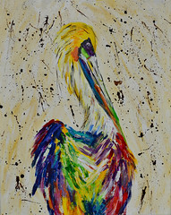 Kim's Pelican (BKHagar *Kim*) Tags: bkhagar pelican painting paint acrylic canvas bird neworleans art artwork artday