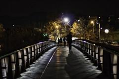 on the bridge (muntsa-joan-color) Tags: bridge night streetphotography street streetphoto city ciudad noche puente canon eos70d people gente