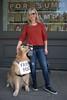 Golden Retriever (Scott 97006) Tags: dog woman blonde female canine sign hugs cute adorable huggable