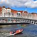 Ha'penny Bridge Over the River Liffey Dublin Ireland May 2018
