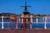 Molen de Adriaan @Haarlem (nldazuu.com) Tags: mill redbike blauweuur burgerlijkeschemering water fiets nederland bloemenfiets blue molen windmolen bluehour molens noordholland haarlem spaarne haarlemflowerbike windmill blauwekwartier aanhetspaarne molendeadriaan muhle