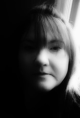 Hope in the dark (Southern Darlin') Tags: me self selfportrait photography photo portrait people bw blackandwhite black white dark monochrome mono woman