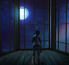 Dreaming (.ɴɪᴋᴋɪ.) Tags: second life new designer event release vanilla bae group gift blog post drawing hair foxy dreaming space moon night midnight stars star dust universe pijama child kid girl teddy bear fantasy materials