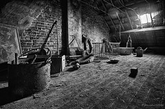 Fan attic (Alexandre DAGAN) Tags: urbex urban exploration urbaine urbanexploration urbexmood maison house abandonné abandoned decay grenier attic noir blanc black white noiretblanc noirblanc blacknwhite blackandwhite blackwhite light lumière voyage travel europe