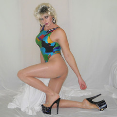 Shake ya pantyhose! (queen.catch) Tags: heels pleasers shinypantyhose leotard 80s thong bathingsuit wig makeup drag dragqueen hips legsfordays tranny ladyboy shemale genderbending sissy femme feminization