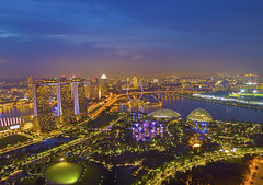 Aerial view panorama of Singapore skyscrapers with city skyline during cloudy summer day. (by nelzajamal) Tags: singapore aerial view city skyline bay landscape marina asia panorama cityscape building landmark garden travel architecture tourism skyscraper beautiful attraction blue flyer structure background drone johore malaysia mavic dji