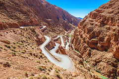 Route dans les gorges du Dadès (Voyages Lambert) Tags: travel atlas todragorge casbah twisted dadesvalley scenics berber deep famousplace nature outdoors morocco africa snake rockobject cliff mountainrange mountain canyon valley ravine desert landscape road