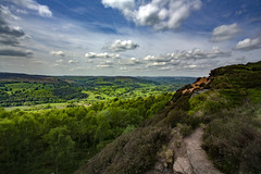 Jurrassic (Karl Ruston) Tags: clouds sky landscape tree cliffs view outdoor high southyorkshire