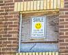 SMILE for the Camera (augphoto) Tags: augphotoimagery sign signage smile text window yellow williamson westvirginia unitedstates warning