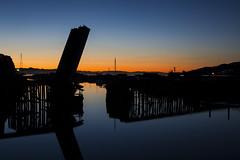 trestle dawn (eb78) Tags: ca california greenbrae northbay marincounty sunrise dawn trestle nwprr northwesternpacificrailroad abandoned bluehour railroad traintracks cortemaderacreek basculebridge