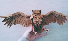 Blackiston's Fish Owl by Katsuta Kyohei (matamadae) Tags: origami blackistonsfishowlbykatsutakyohei owl blackistons fish katsuta kyohei coruja papercraft blackiston