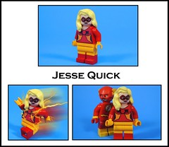 Jesse Quick (-Metarix-) Tags: lego minifigure super hero jesse quick flash comics comic libery bell chambers speedster custom decal dc universe jsa justice society america family